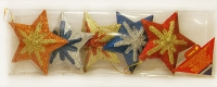"""Новогодняя подвеска 9см """"Новогодние звезды"""" в наборе 5шт в пласт.уп. 90343-PN  PIONER"""