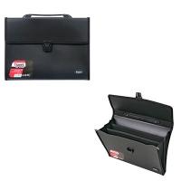 Папка портфель А4 на 3 отделения черный 1601-01-А