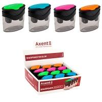 Точилка пластиковая с контейнером BiColor микс цветов Axent 1163-А