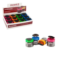 Точилка пластиковая с контейнером Style микс цветов Axent 1160-А
