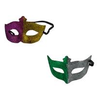 Венецианская маска с глиттером 6-146 (2053) Цена за 1 шт