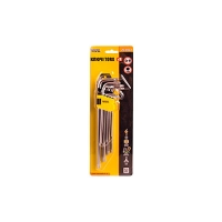 Набор ключей TORX, 9 шт CrV длинные (Т10...Т50 L90...217 мм) Master Tool 75-0961
