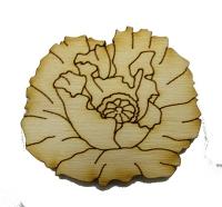 Фанера Маковый цветок 6см В-0146