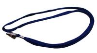 Шнурок для бейджа синий застежка-прижимом с фиксатором Е45651