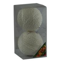Набор елочных игрушек пластик 10см в упак 2шт 92098-PN