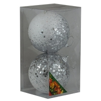 Набор елочных игрушек пластик 10см в упак 2шт 92099-PN