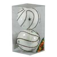 Набор елочных игрушек пластик 10см в упак 2шт 92101-PN