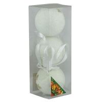 Набор елочных игрушек пластик 8см в упак 3шт 92108-PN