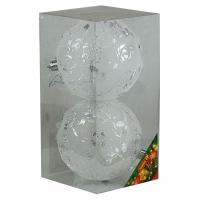 Набор елочных игрушек пластик светящиеся 10см в упак 2шт 92111-PN