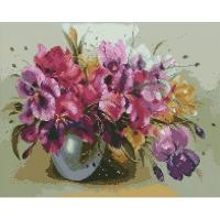 Набор с алмазной мозаикой 40*50см Букет ярких ирисов АМ6117