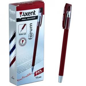 Ручка гелевая красная 0,5мм Forum AG1006-06-А