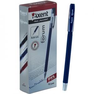 Ручка гелевая синяя 0,5мм Forum AG1006-02-А