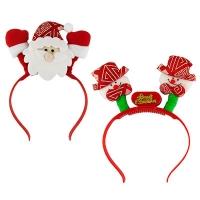 "Обруч светящийся  ""Дед Мороз,Снеговик"" 23см микс 2 вида 91985-PN (240)"
