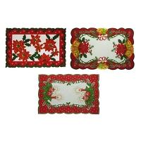 Рождественская салфетка 43*28 тканевая 5-48 (6326)