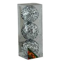 Набор елочных игрушек пластик 8см в упак 3шт 92085-PN