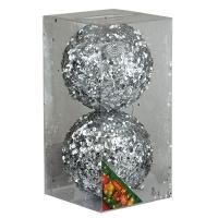 Набор елочных игрушек пластик 10см в упак 2шт 92086-PN