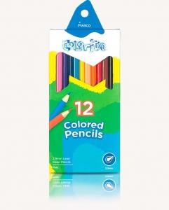 Карандаши цветные 12шт 24цв двухсторонние Colorite MARCO 1110-12CB