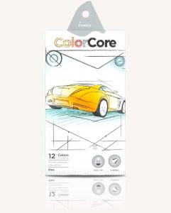 Карандаши цветные 12шт шестигранные+1 графитный MARCO 3100-12CB