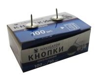 Кнопки никелированные 100шт 75304-NV