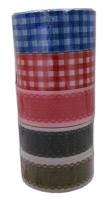 Скотч декоративный с узорами 5шт/уп ассорти 18-185 3-359 цена за уп.