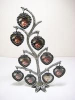 Фоторамка 9 фото Семейное дерево серебро 44268