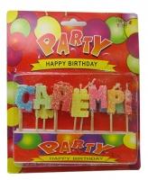 Свечи для торта  С днем рождения U-253 3-470 (6605)