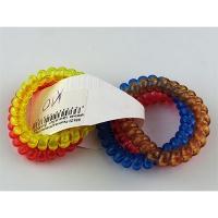 Резинка для волос спираль цветная прозрачная  Цена за 1шт в упак 5шт 1-А (2-20)