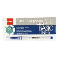 Ручка гелевая красная 0,5мм CL Basic Liner 801-RD 9-390 (21578)
