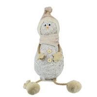 Новогодний декор Снеговик с веревочными ножками (135)