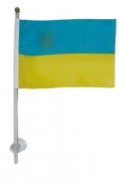 Флаг Украины на авто на присоске малый