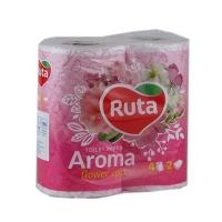 Бумага туалетная Ruta Aroma Flower 4рул 2шары розовый ароматизированные Т0093
