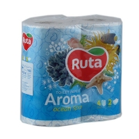 Бумага туалетная Ruta Aroma Ocean 4рул 2шары голубой ароматизированные Т1063