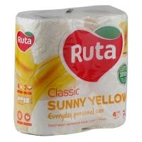 Бумага туалетная Ruta Classic 4рул 2шары желтая Т6073