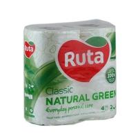 Бумага туалетная Ruta Classic 4рул 2шары зеленя Т0083