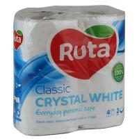 Бумага туалетная Ruta Classic 4рул 2шары белая Т1054