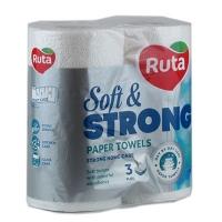 Полотенце кухонное Ruta Soft Strong 2рул 3шары белая R1041