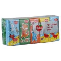 Платки носовые Ruta Детские 10*10 3шары без аромата h3878