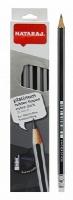 Карандаш чернографитный Nataraj Platinum Extra Dark 2B с ластиком и точилкой 201050006/201050001