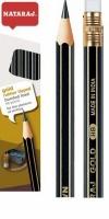Карандаш чернографитный Nataraj Gold HB с ластиком и точилкой заостренный 201052005/201052001