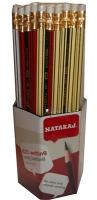 Карандаш чернографитный Nataraj 621 HB с ластиком заостренный 201151020/201154005
