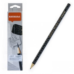 Набор карандашей чернографитных Nataraj Artist mixзаостренный 6 шт  201219001