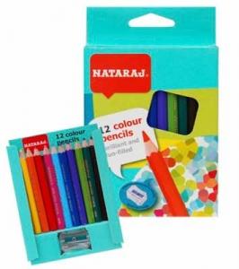 Карандаши цветные 12шт короткие с точилкой Nataraj 201251001