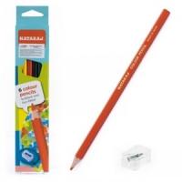 Карандаши цветные 6шт с точилкой Nataraj 201255001