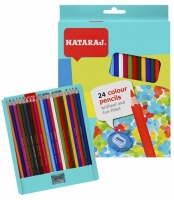 Карандаши цветные 24шт с точилкой Nataraj 201256002