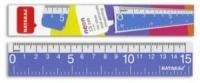 Линейка пластиковая 15см Nataraj Neon 204464001