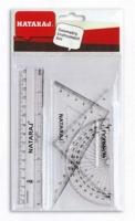 Набор линеек 4 предмета Nataraj транспорт, 2 треугольника, линейка 205480001