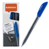Ручка шариковая синяя 1мм Nataraj Super Medium 206490001