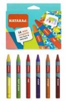 Карандаши цветные 16шт восковые 90мм Nataraj 209725001