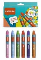Карандаши цветные 14шт восковые 90 мм Jumbo Nataraj 209730001
