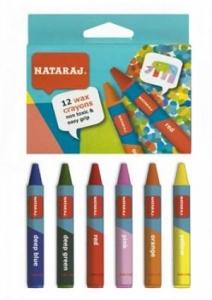 Карандаши цветные 12шт восковые 60мм Nataraj 209735001